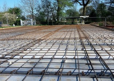 Steel mesh over suspended ground floor