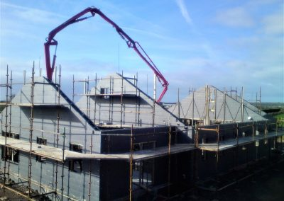 Concrete pouring in an ICF bungalow