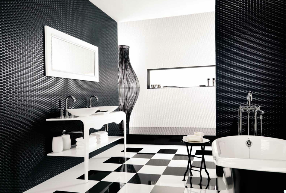 This is an image of a Black Bathroom