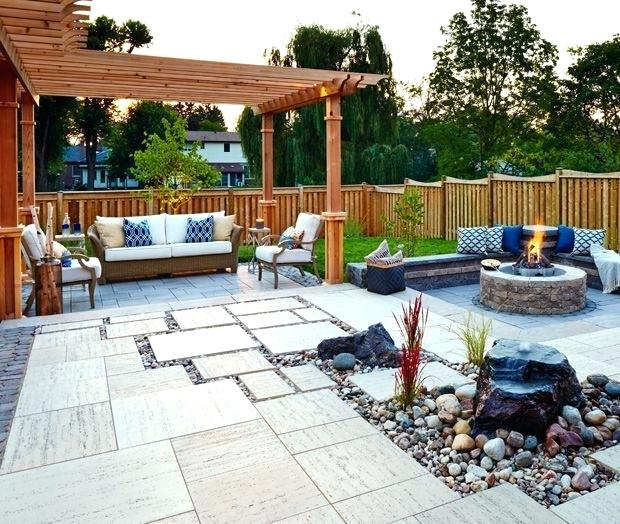 This is an image of a garden patio