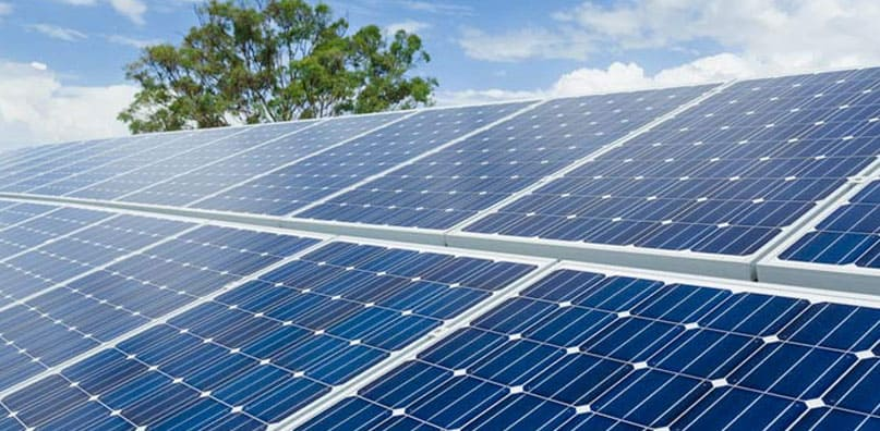 This is an image of solar pv panels