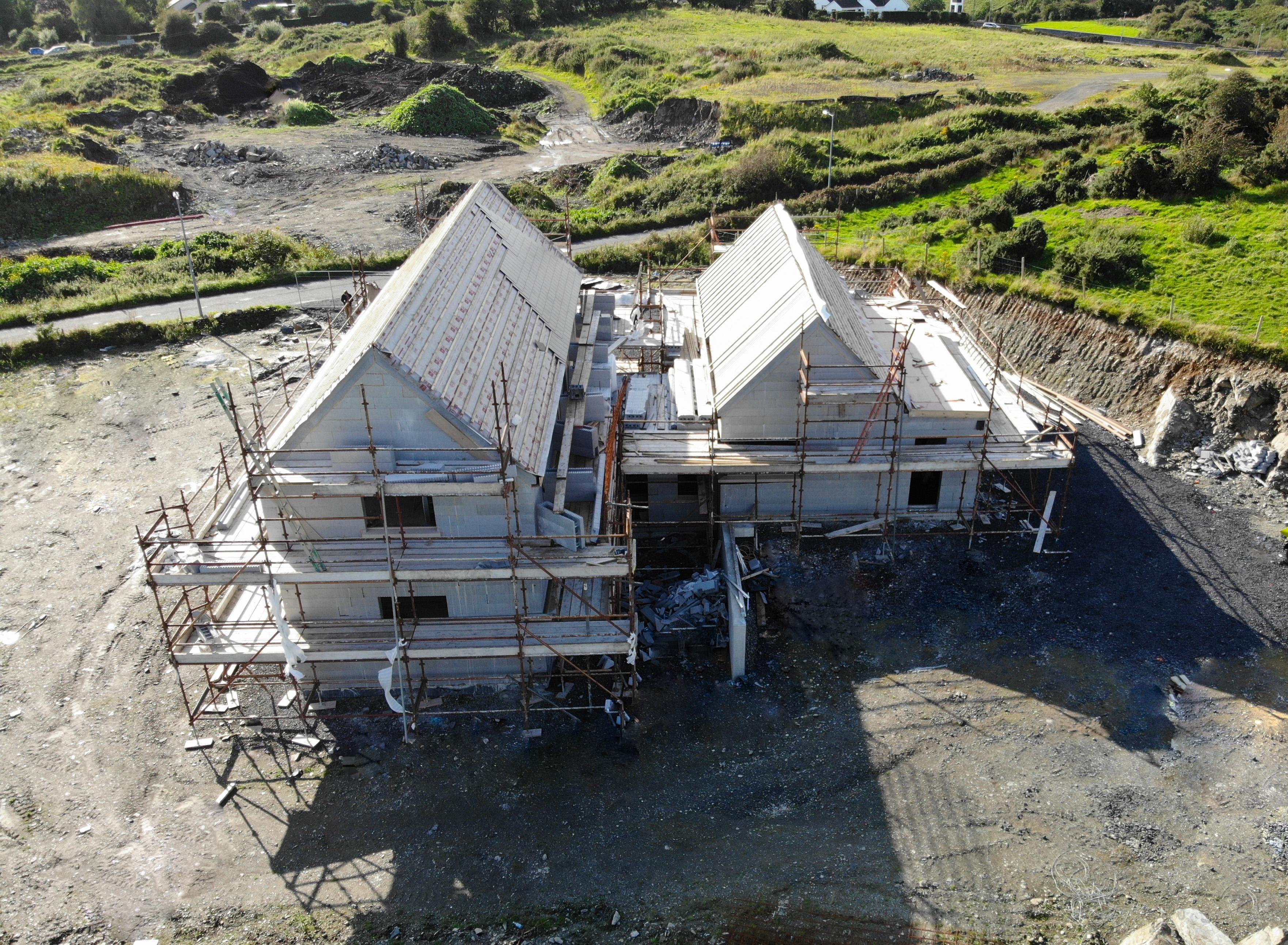 ICF house on building site in Westport