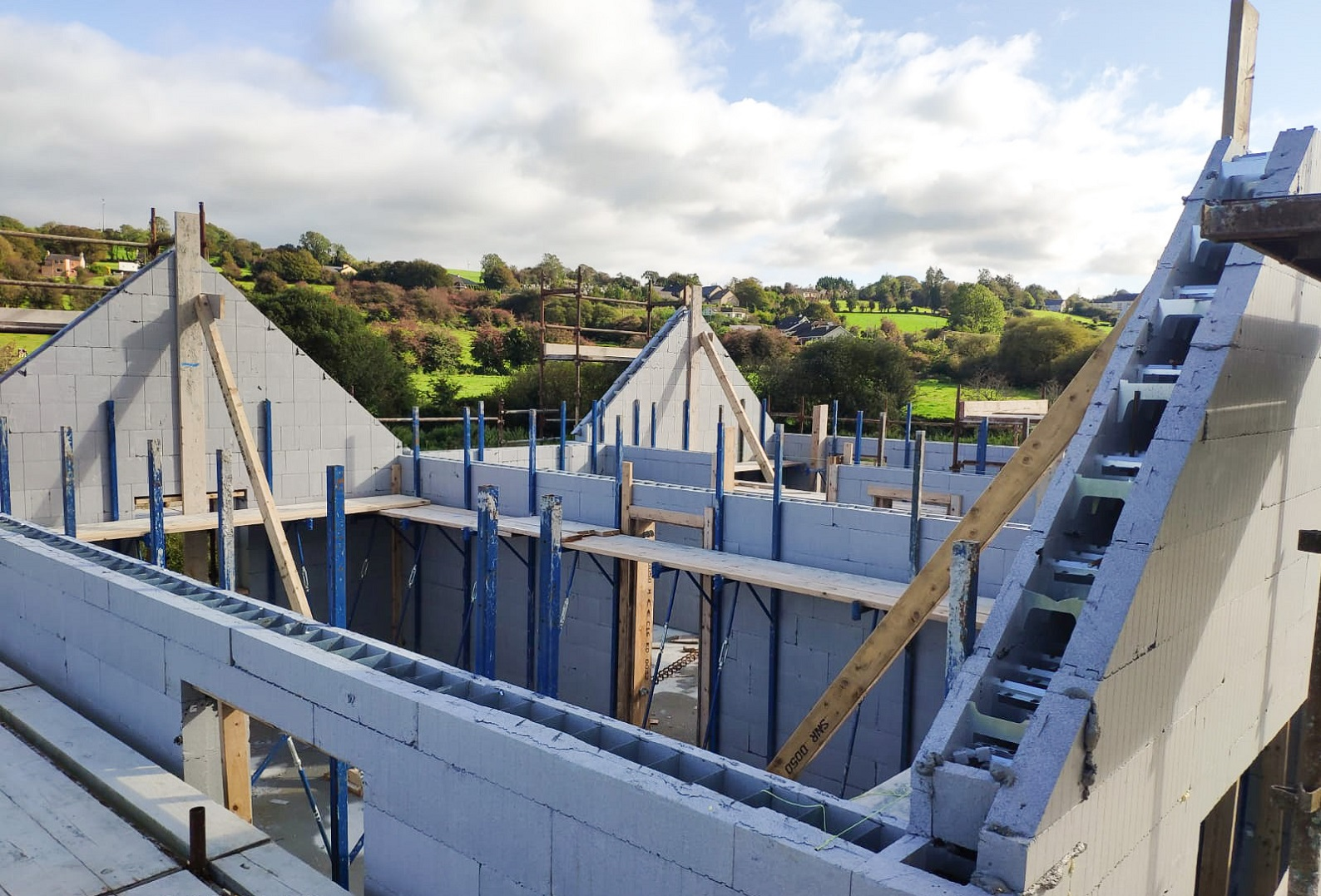 First floor ICF walls erected on a house in Lissarda.