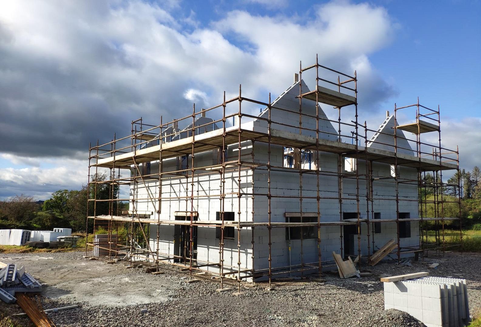 ICF house under construction in Lissarda.