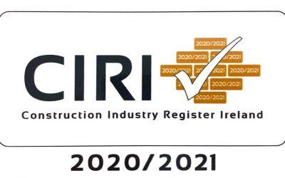 CIRI – Construction Industry Register Ireland 2020/2021